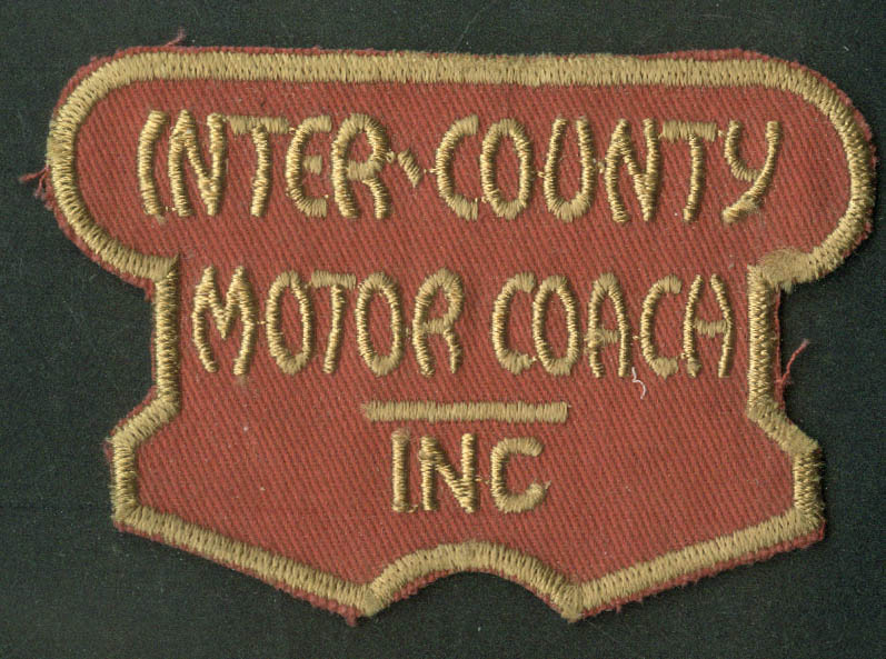 Inter-County Motor Coach unused uniform embroidered patch Babylon NY