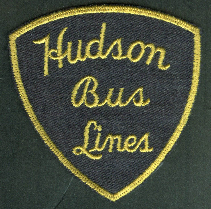 Hudson Bus Lines unused uniform embroidered patch Lewiston ME?