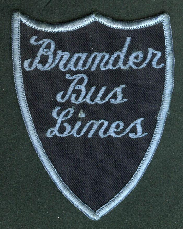 Brander Bus Lines unused uniform embroidered patch Brostol RI