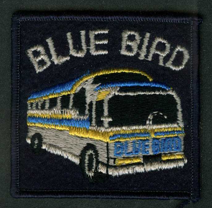 Blue Bird Bus Lines unused uniform embroidered patch Plean NY