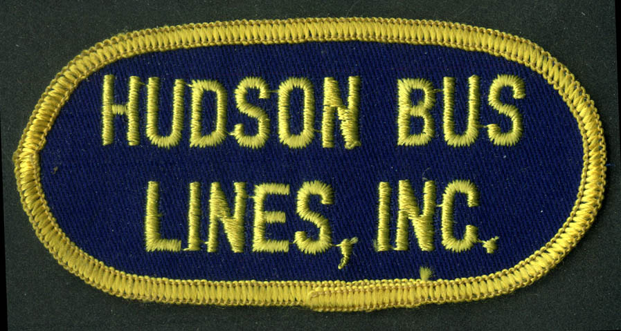 "Hudson Bus Lines unused uniform embroidered patch 4 1/4"" wide"