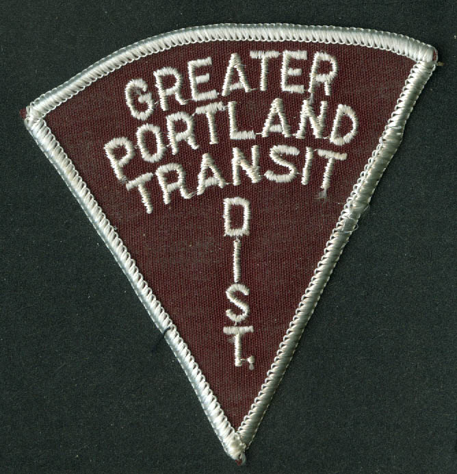 Greater Portland Transit District unused uniform embroidered patch Maine