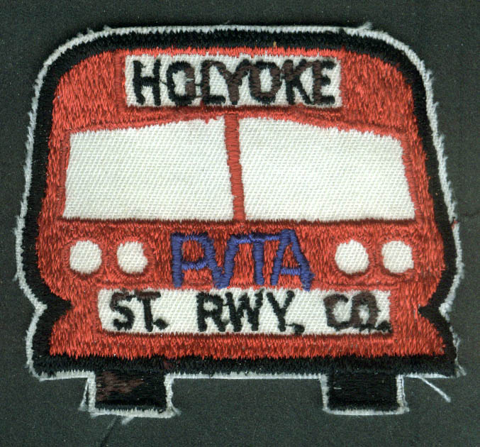 Holyoke Street Railway PVTA unused bus uniform embroidered patch MA