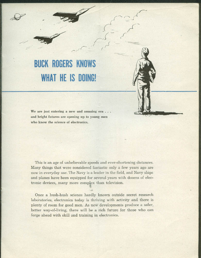 The US Navy Offers You a Rich Future: Electronics recruiting brochure 1950