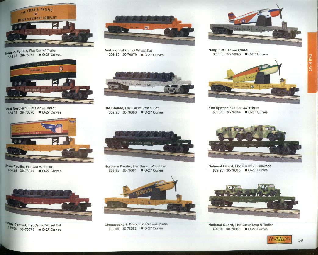 MTH Electric Trains catalog 2003 V1 RailKing Premier Tinplate