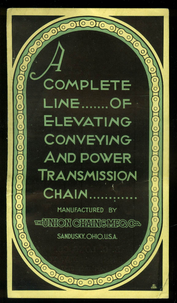 Union Chain Elevating Conveying & Power Transmission sales folder  1924