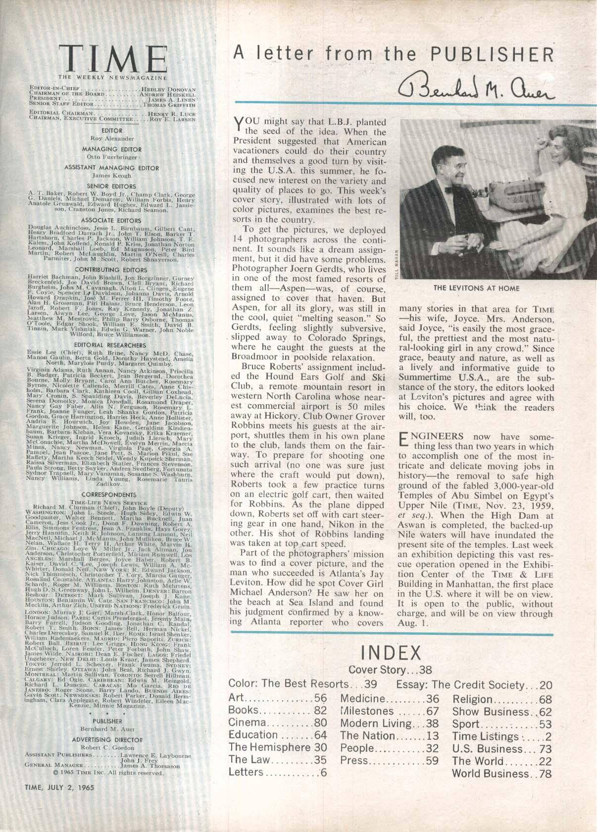 TIME Michael Anderson Vietnam LBJ Viet Cong 7/2 1965