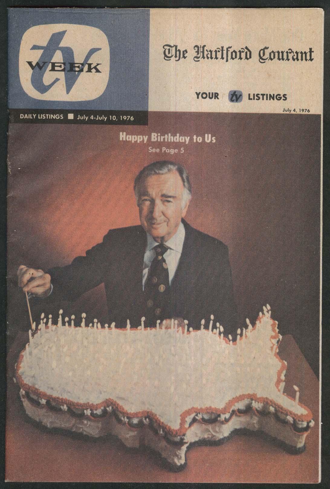 TV WEEK Hartford Courant Walter Cronkite Bicentennial ++ 7/4 1976