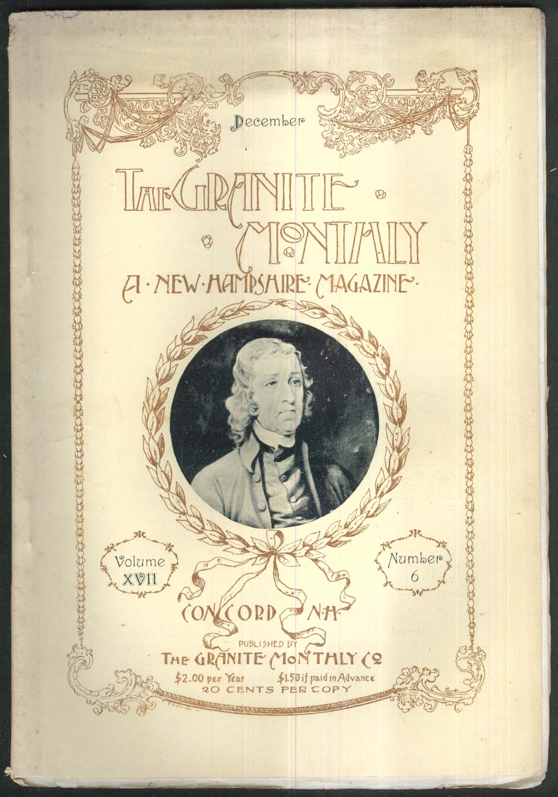 GRANITE MONTHLY New Hampshire Kingston Noddy Passaconway Mansfield + 12 1894