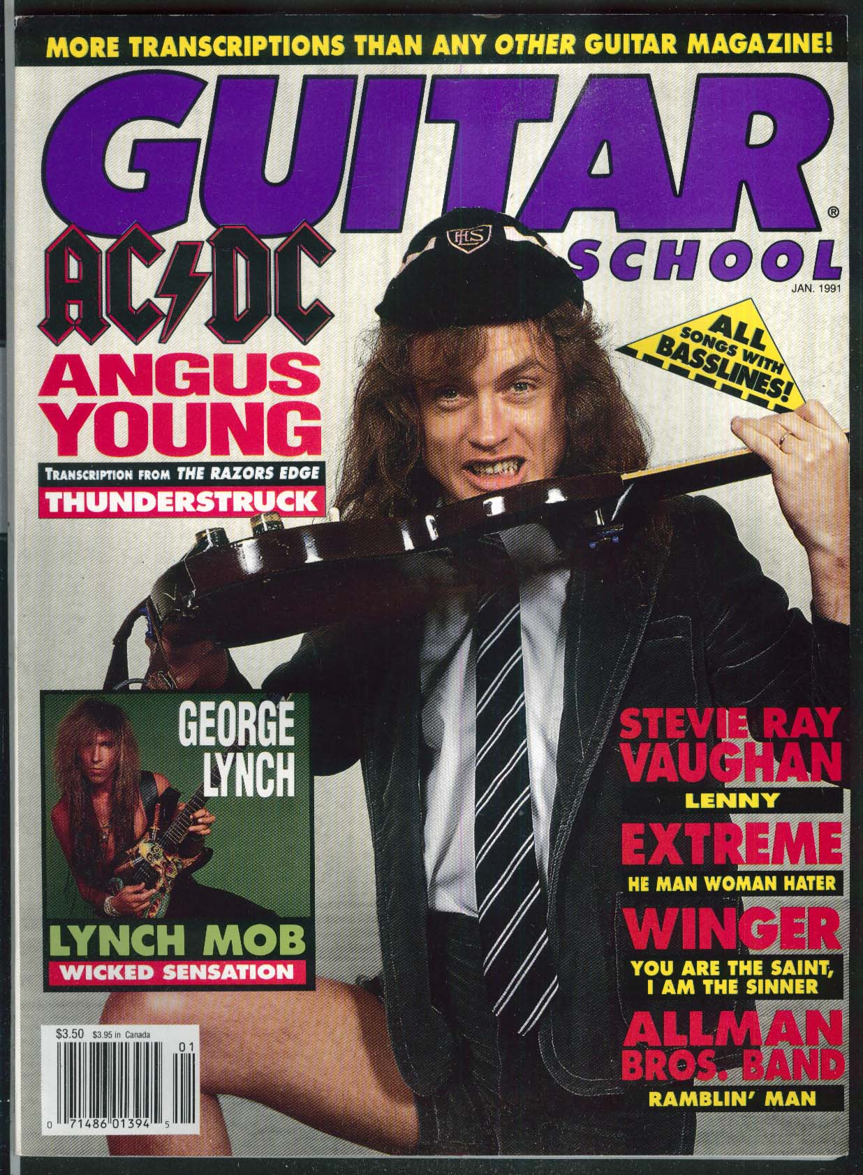 GUITAR SCHOOL Angus Young George Lynch Stevie Ray Vaughan 1 1991