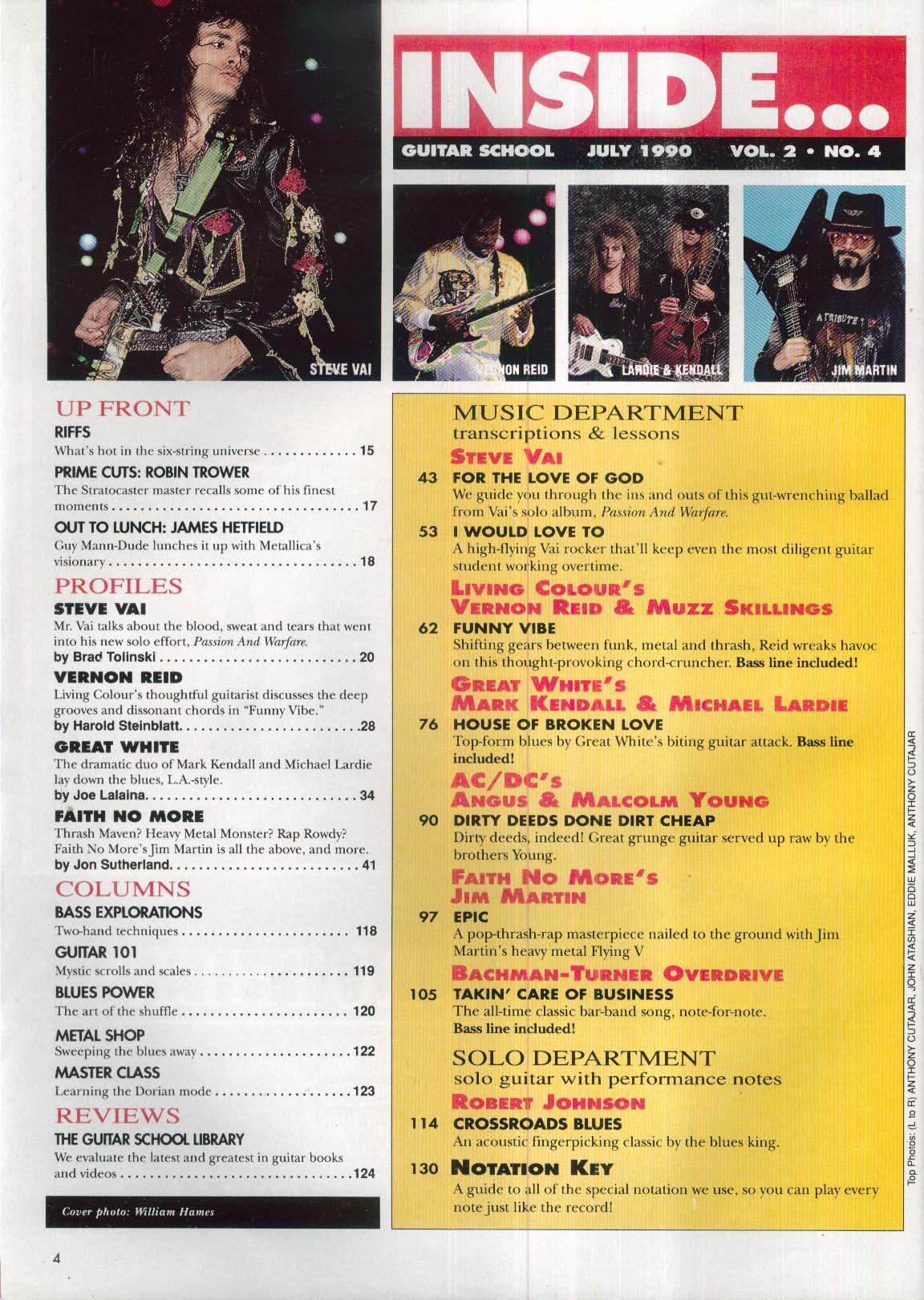 GUITAR SCHOOL Steve Vai Passion & Warfare Ibanez + 7 1990
