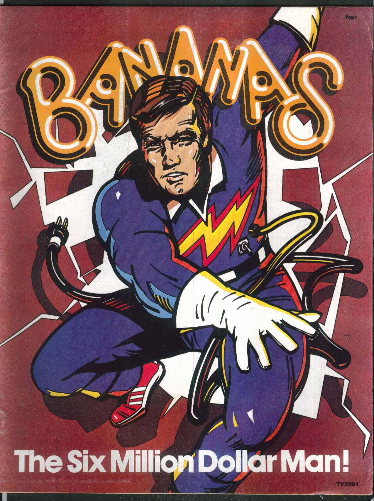 BANANAS #4 Lee Majors Six Million Dollar Man Linda Ronstadt Jerry Lewis 1976