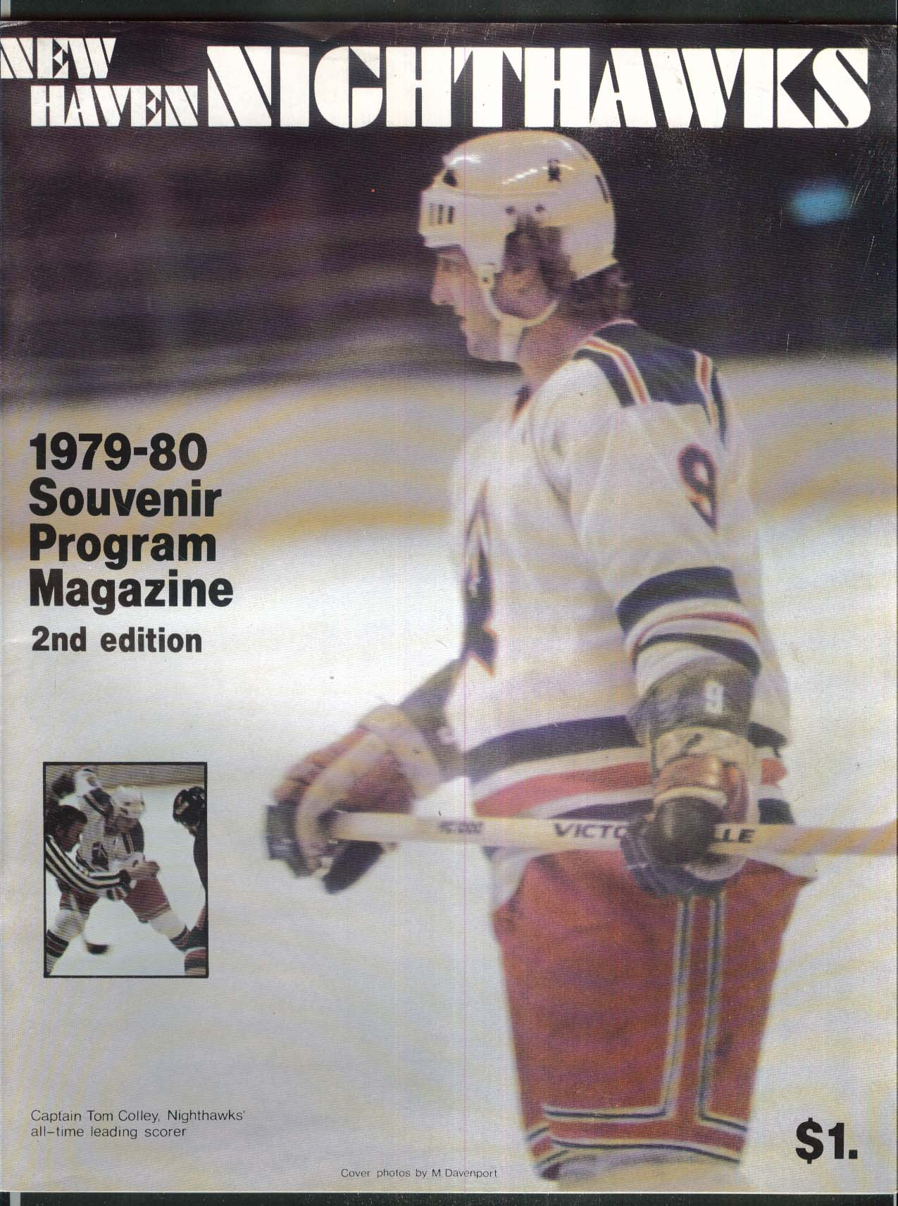 New Haven Nighthawks 1979 Souvenir Program 2nd Edition UNSCORED vs Hershey Bears