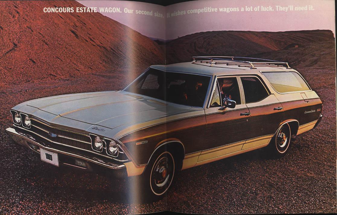 1969 Chevrolet Station Wagons brochure Concours Kingswood et al