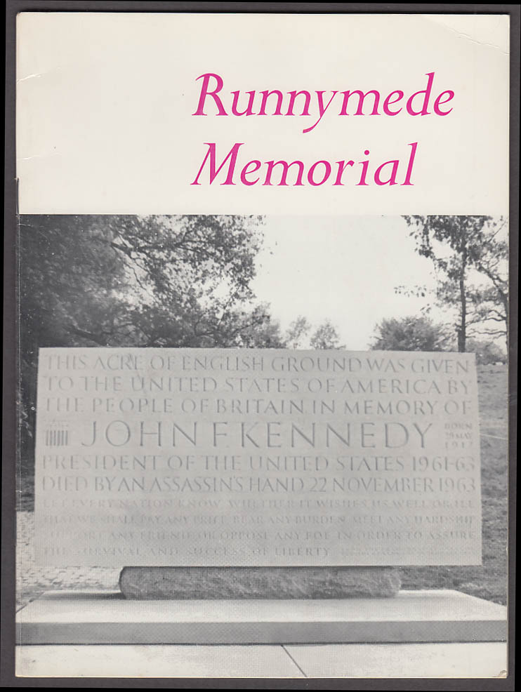 Runnymede Memorial to JFK John F Kennedy souvenir brochure 1965