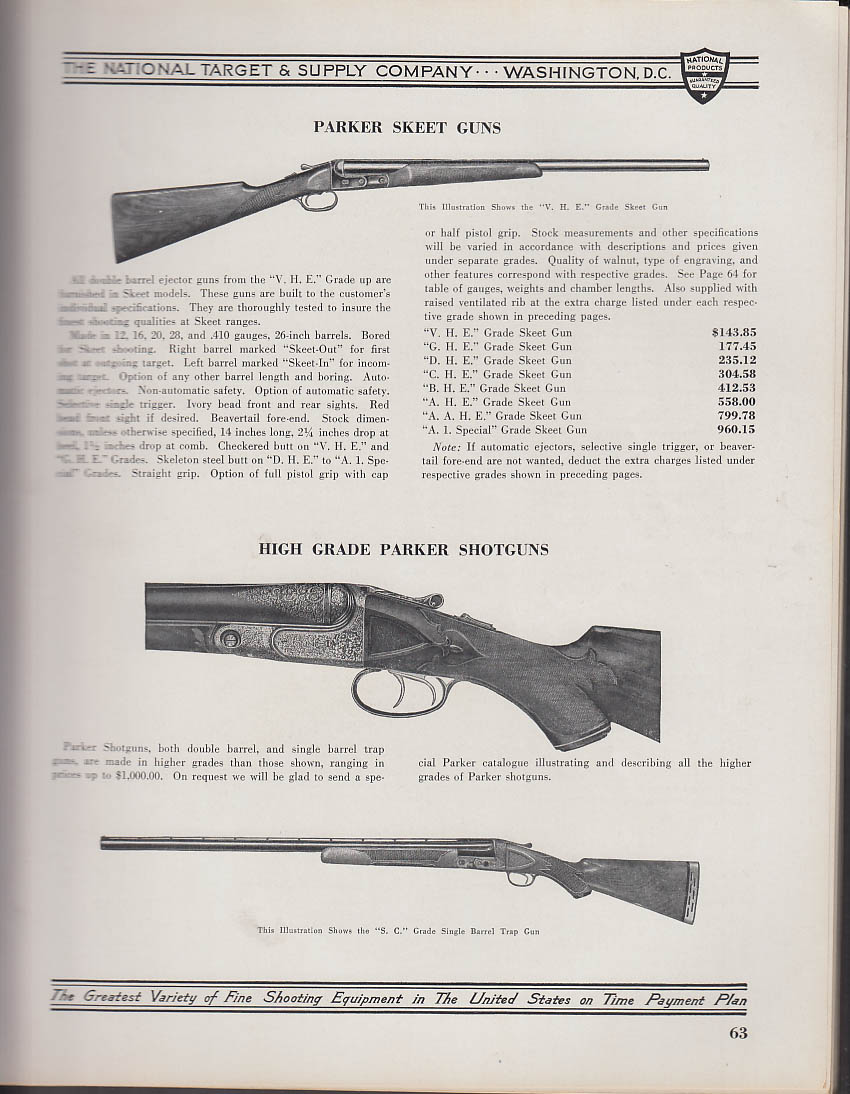 National Target & Supply Handbook & Catalog 1937 guns