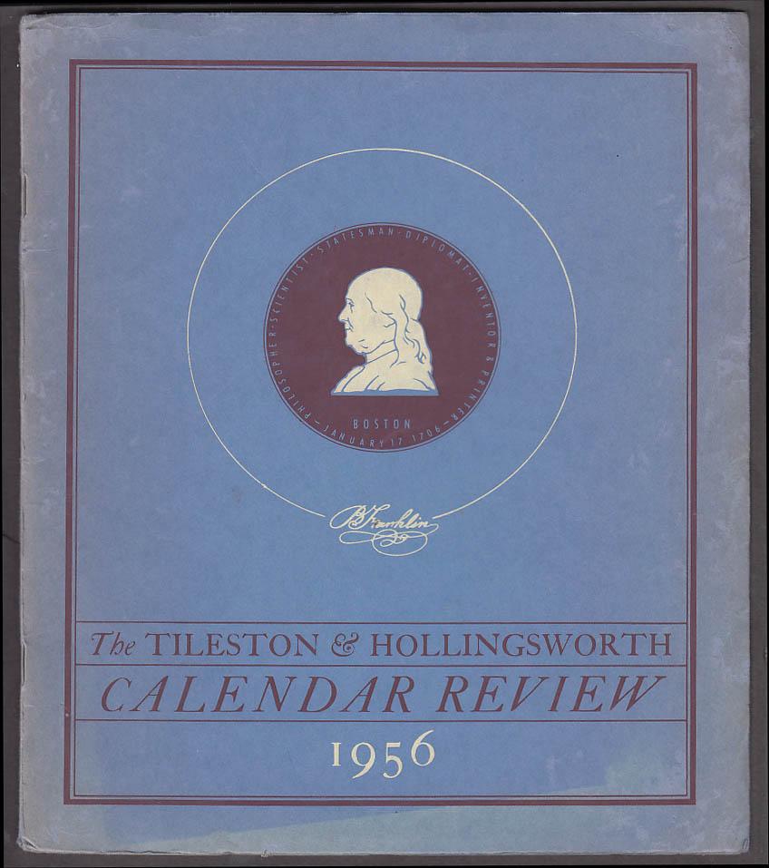 Tileston & Hollingsworth Calendar Review 1956 Benjamin Franklin William Clawson