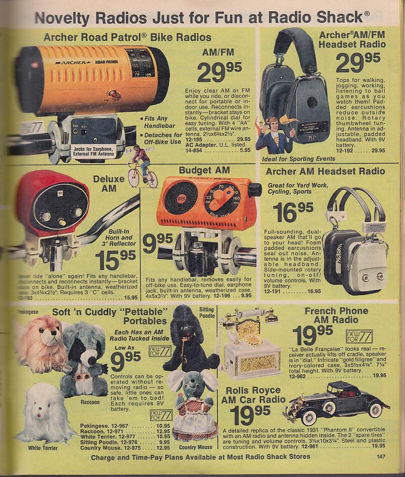 RADIO SHACK catalog #276 1977 CB Walkie-Talkie novelty radios science kits