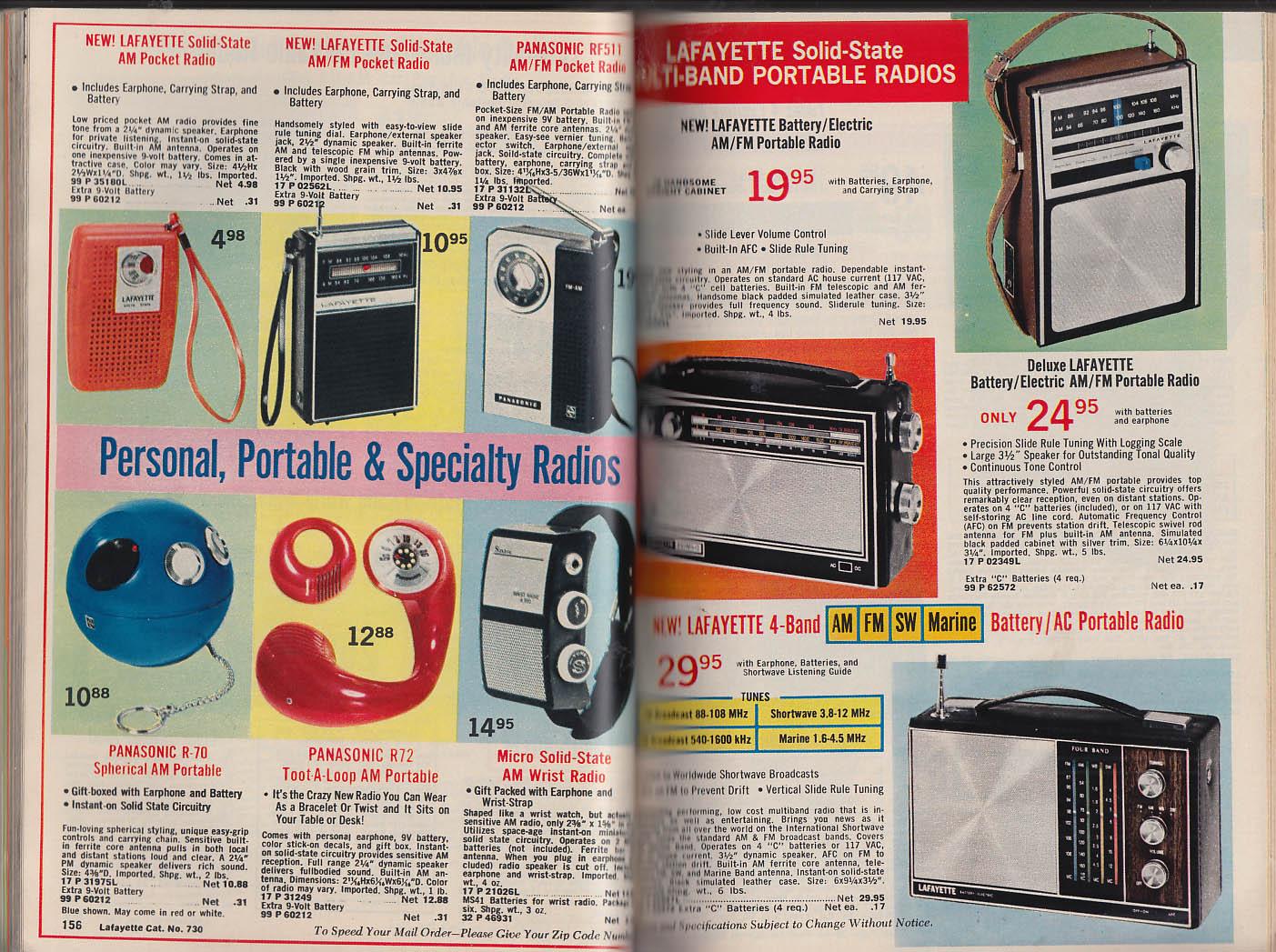 LAFAYETTE Radio Electronics Catalog 1973 stereo optics CB RC guitars +