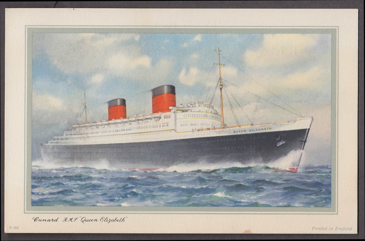 Cunard Line R M S Queen Elizabeth Abstract of Log Southampton-NY 5/13-18 1954