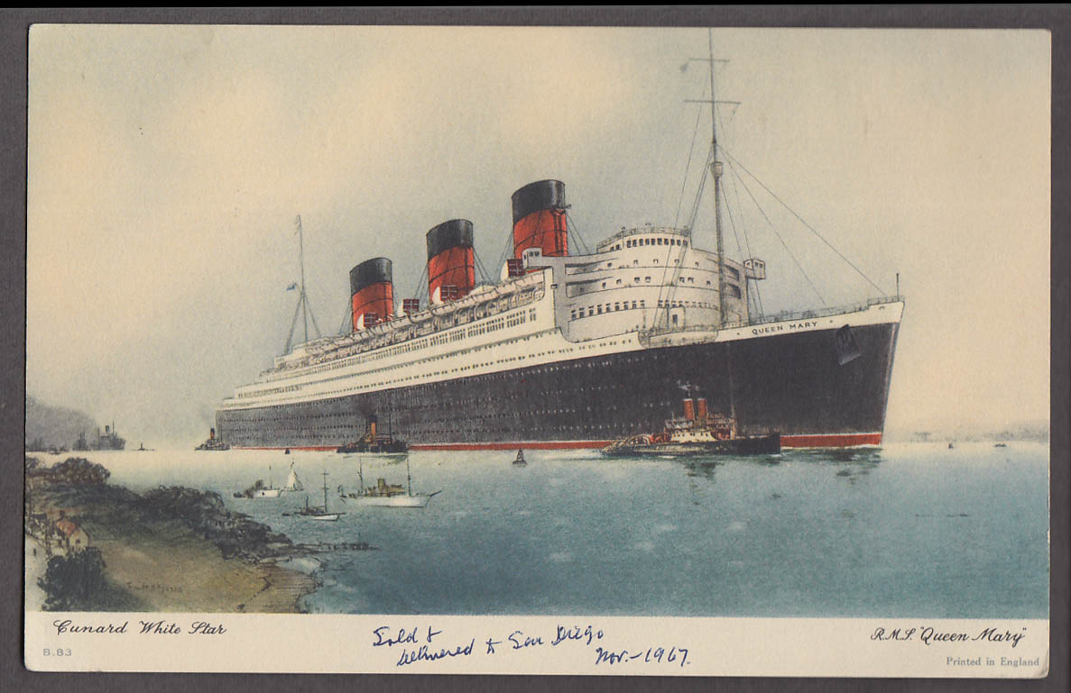 Cunard Line R M S Queen Mary Abstract of Log 10/31-11/5 1951 Southampton-NY