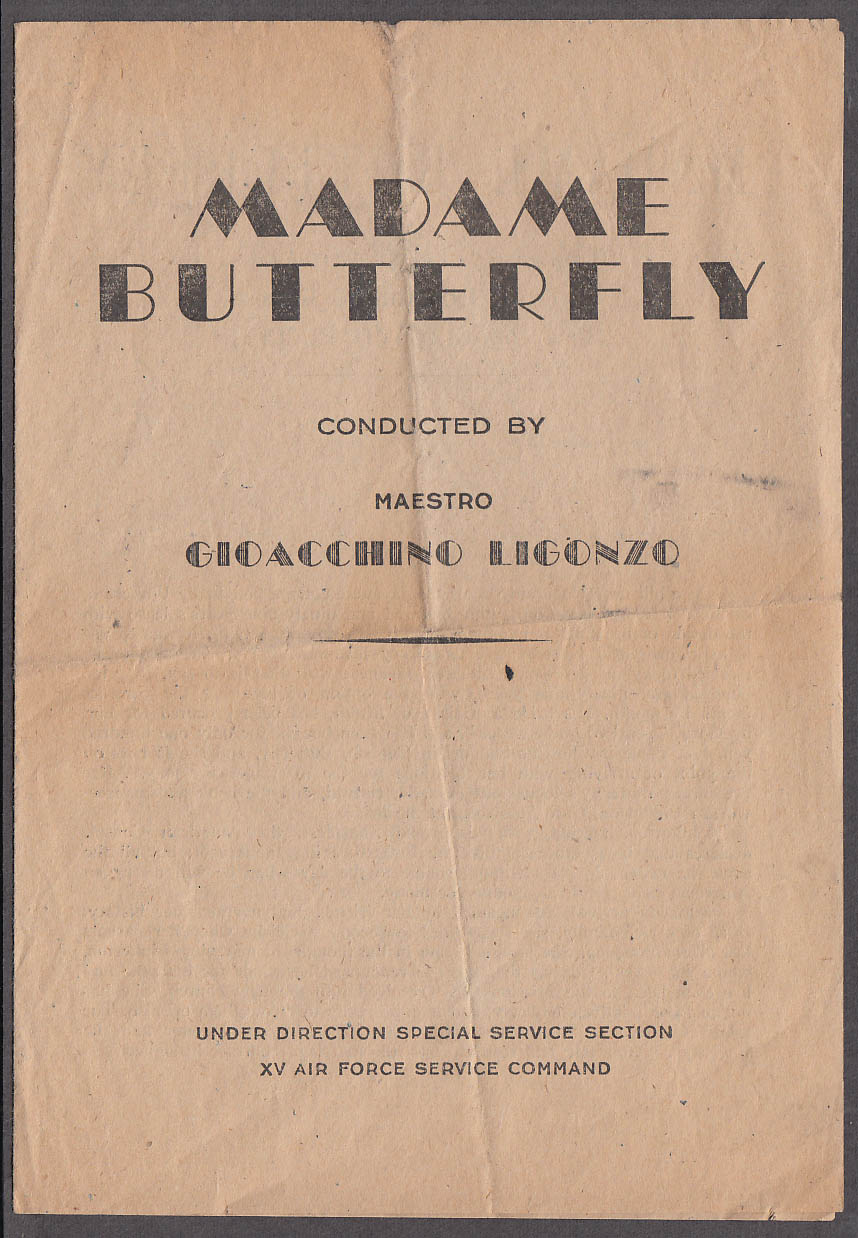 15th Air Force Service Command Madama Butterfly program 1940s