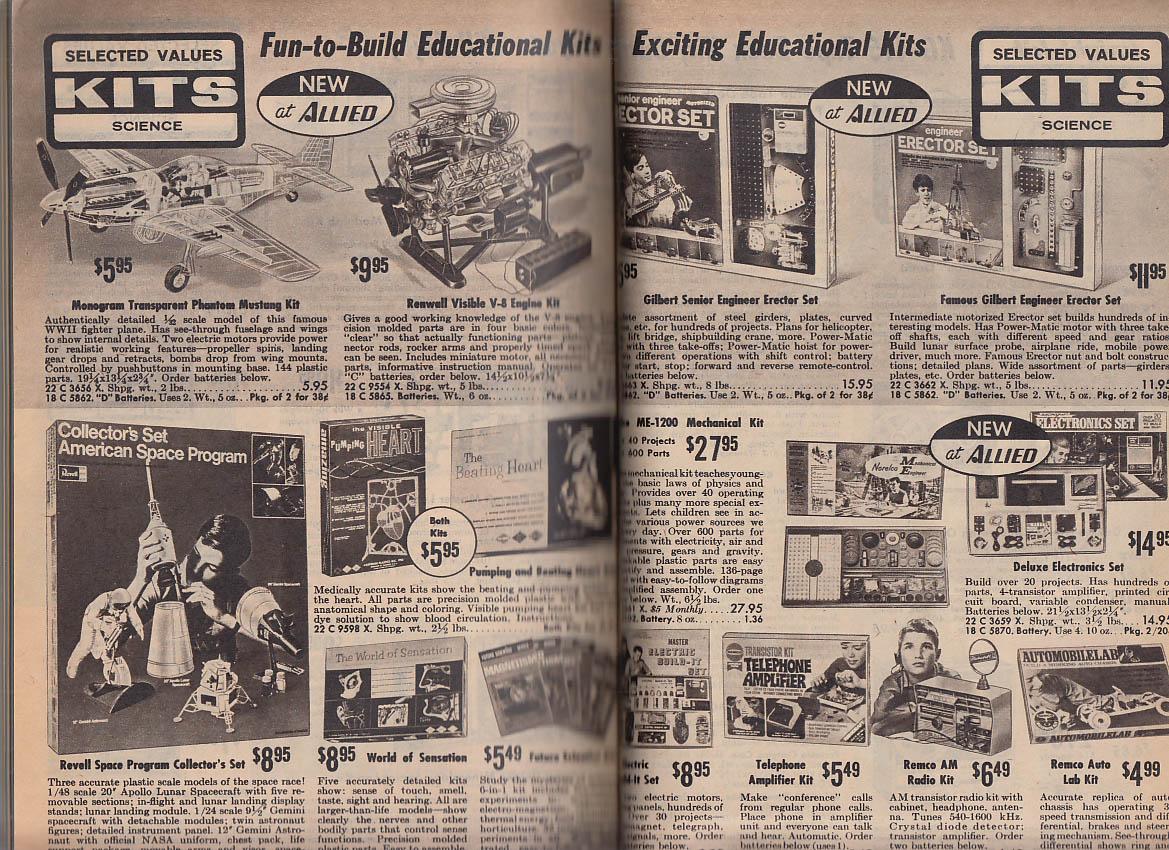 Allied Radio Electronics Catalog #280 1969 guitars optics stereo model kits