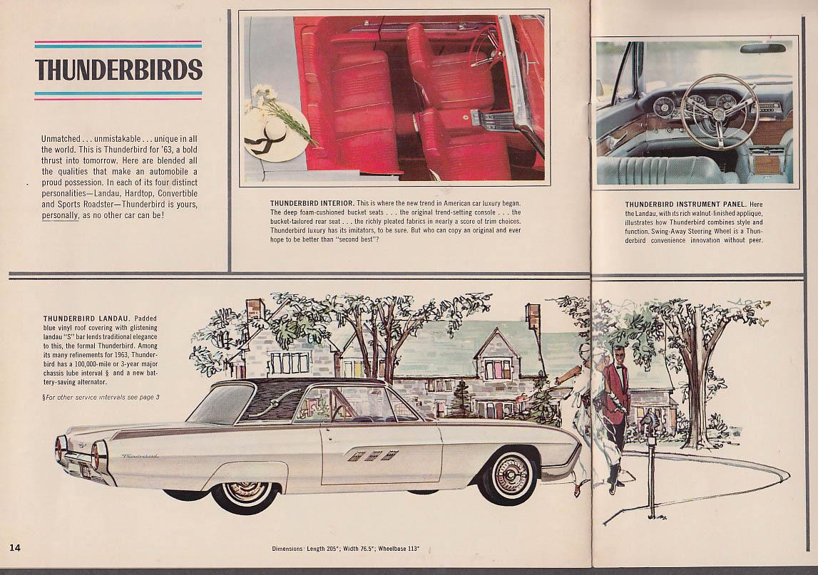 1963 Ford Galaxie 500/XL Thunderbird Fairlane Falcon brochure 8-62