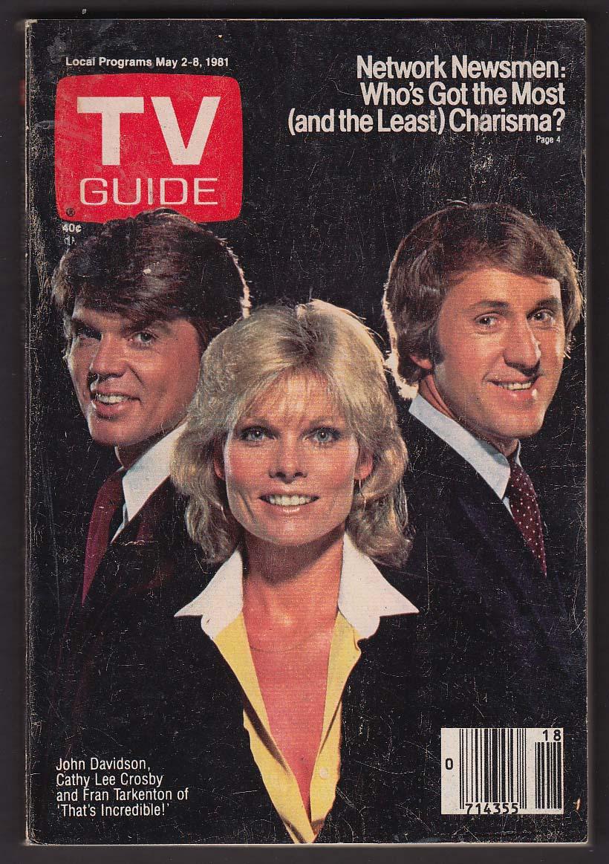 TV GUIDE John Davidson Cathy Lee Crosby Fran Tarkenton 5/2 1981