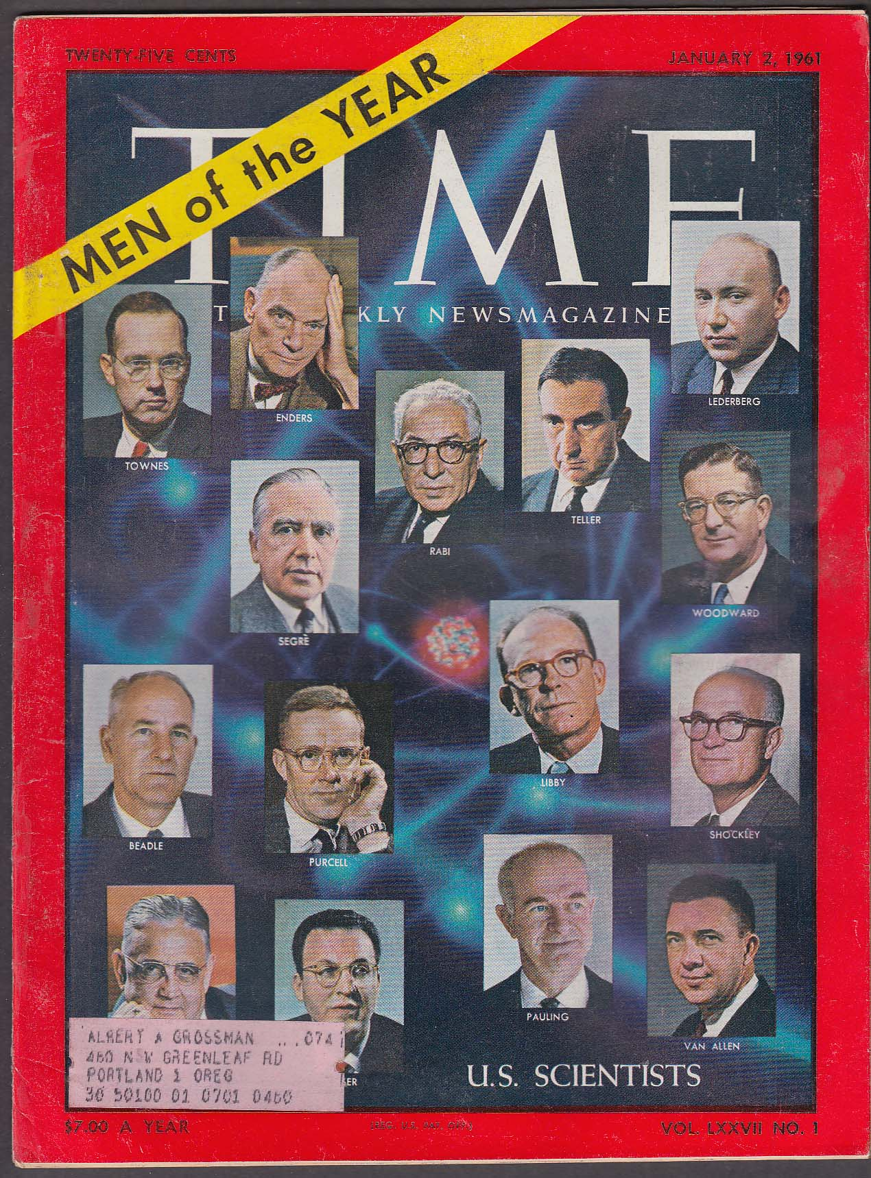 TIME US Scientists Kennedy Saud Feisal Nasser ++ 1/2 1961