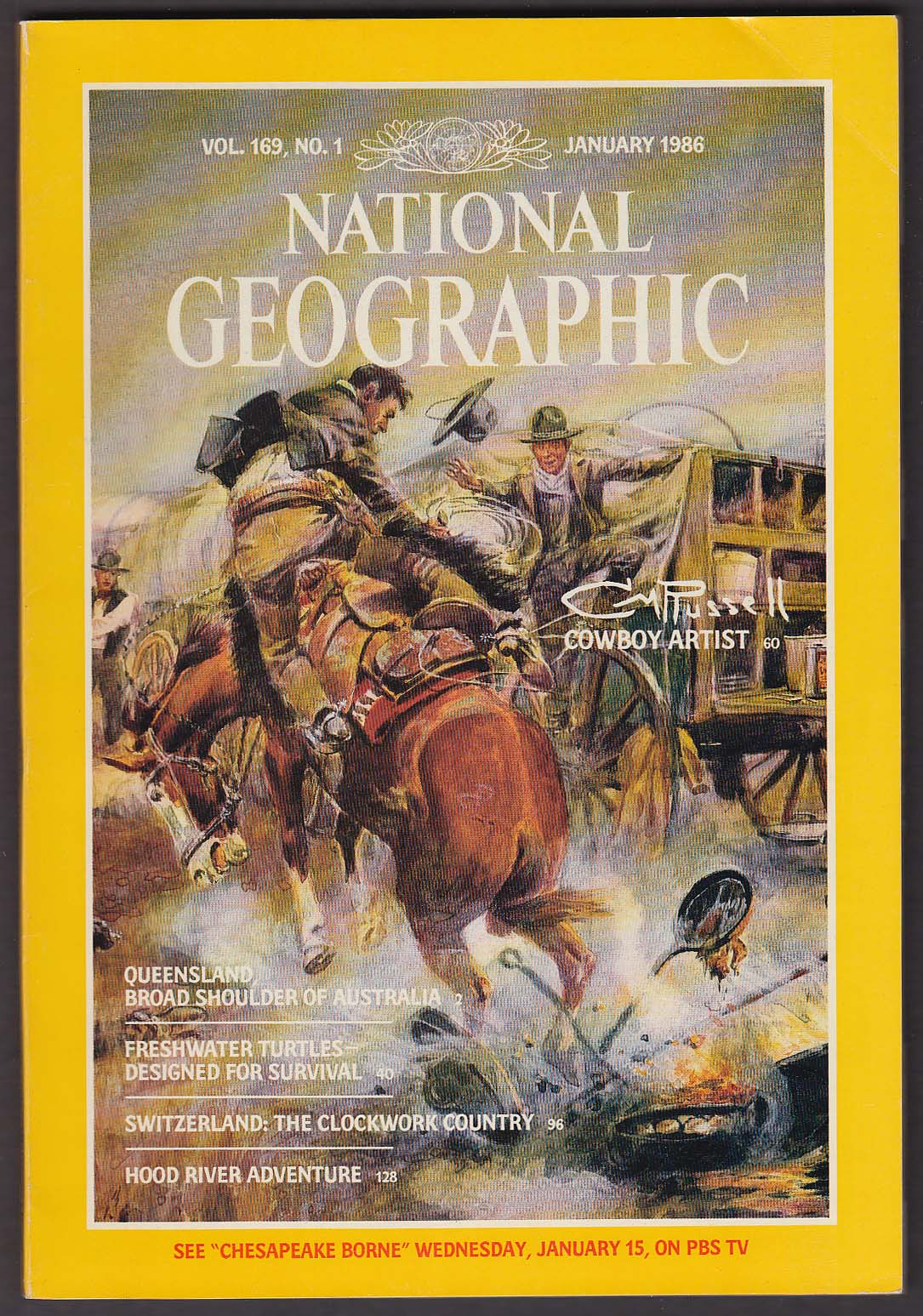 NATIONAL GEOGRAPHIC Charles Marion Russell Queensland Freshwater Turtles 1 1986