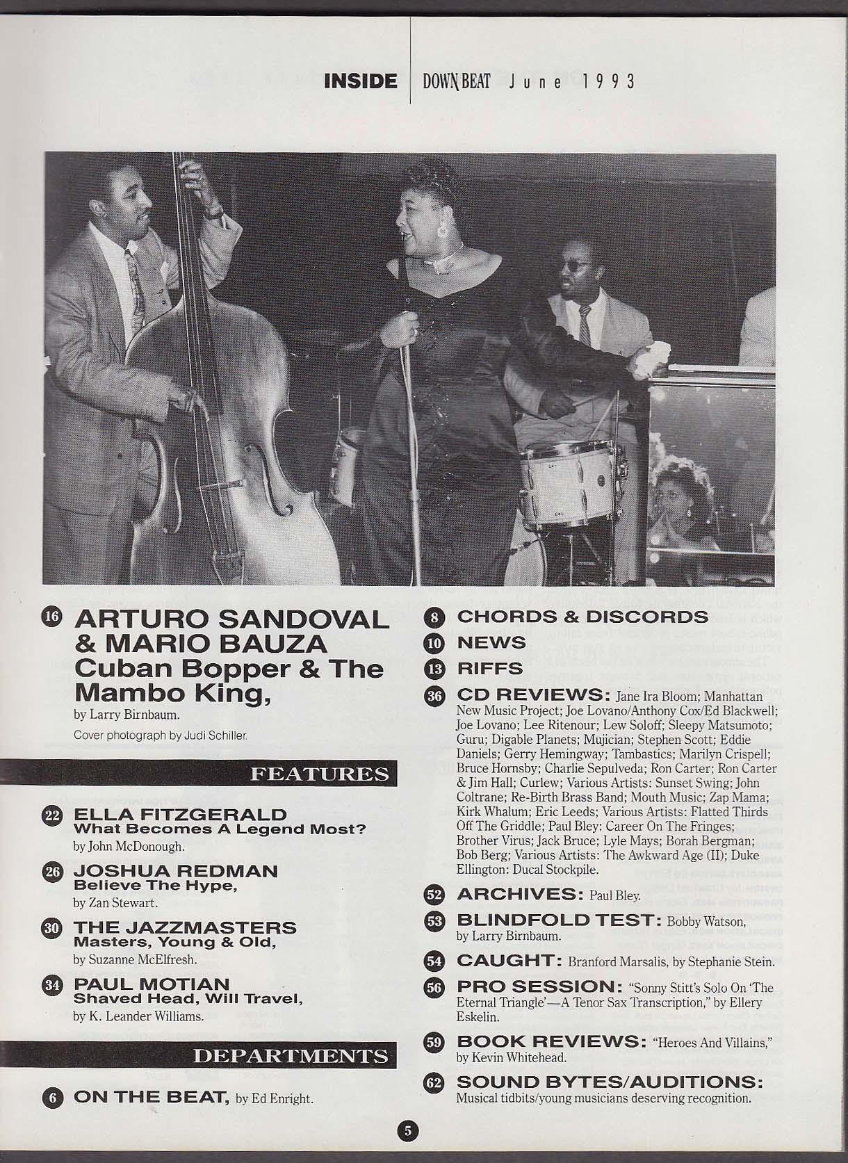 DOWN BEAT Arturo Sandoval Mario Bauza Paul Motian 6 1993