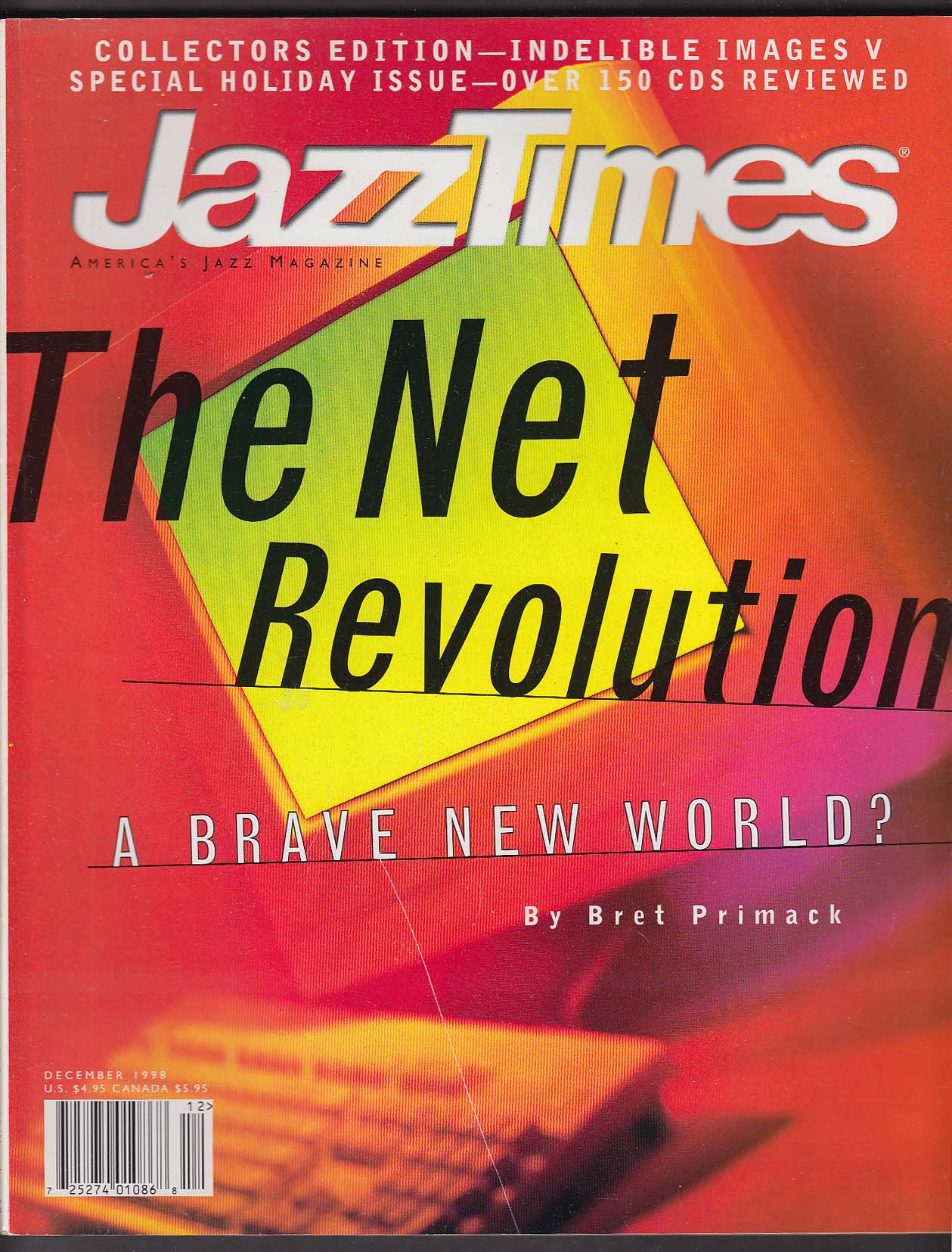 JAZZ TIMES Bret Primack Internet Revolution ++ 12 1998