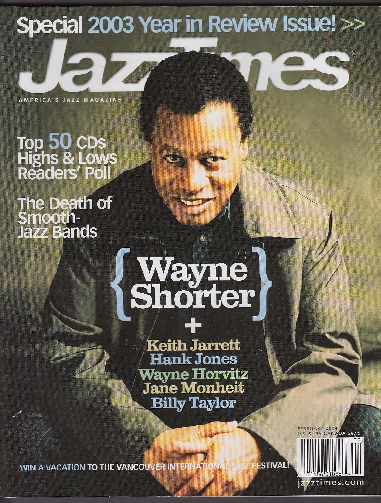 JAZZ TIMES Wayne Shorter Keith Jarrett Hank Jones 2 2004