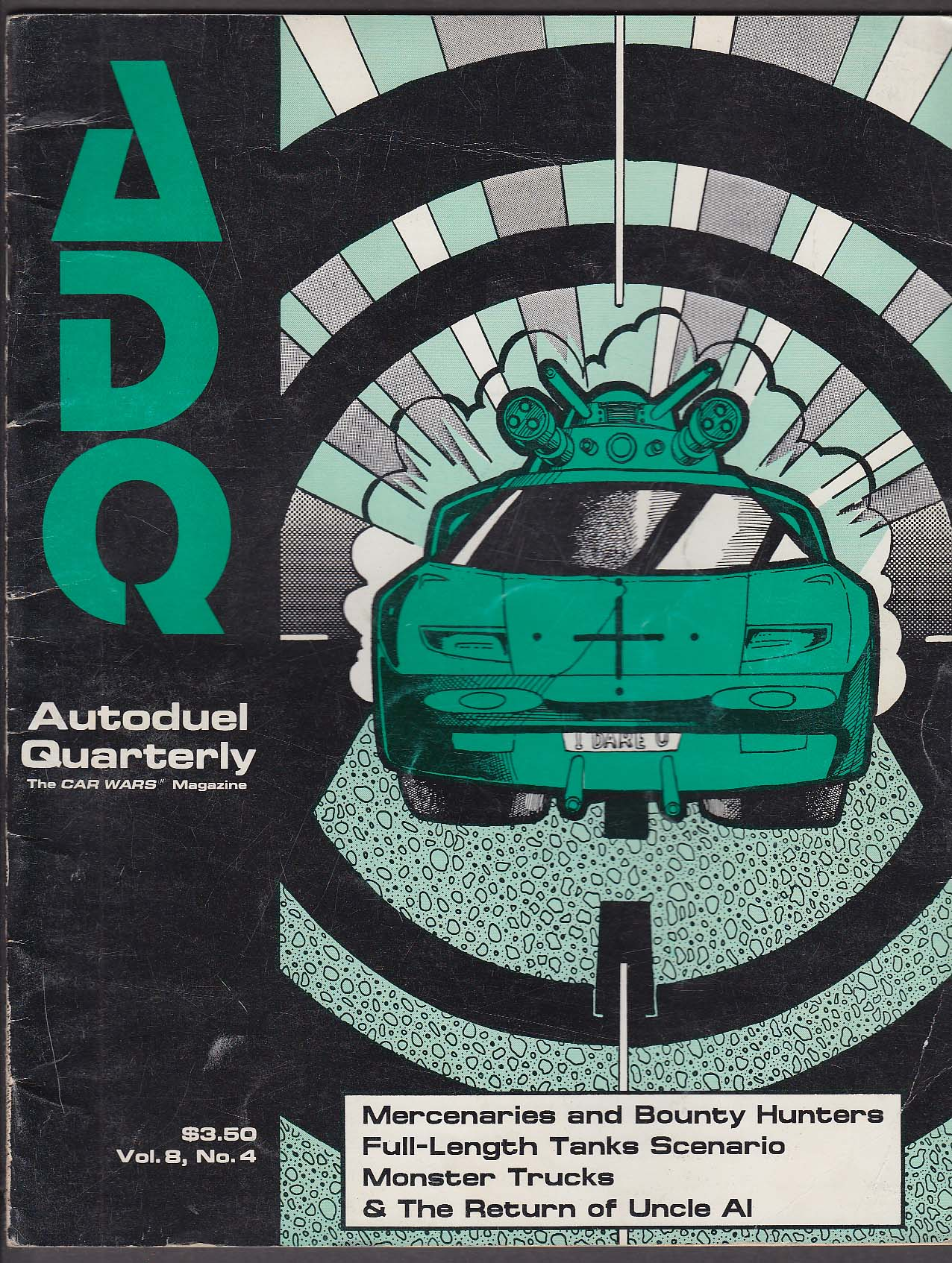 ADQ Autoduel Quarterly Vol 8 #4 Car Wars Winter 2040 Steve Jackson Games RPG 199