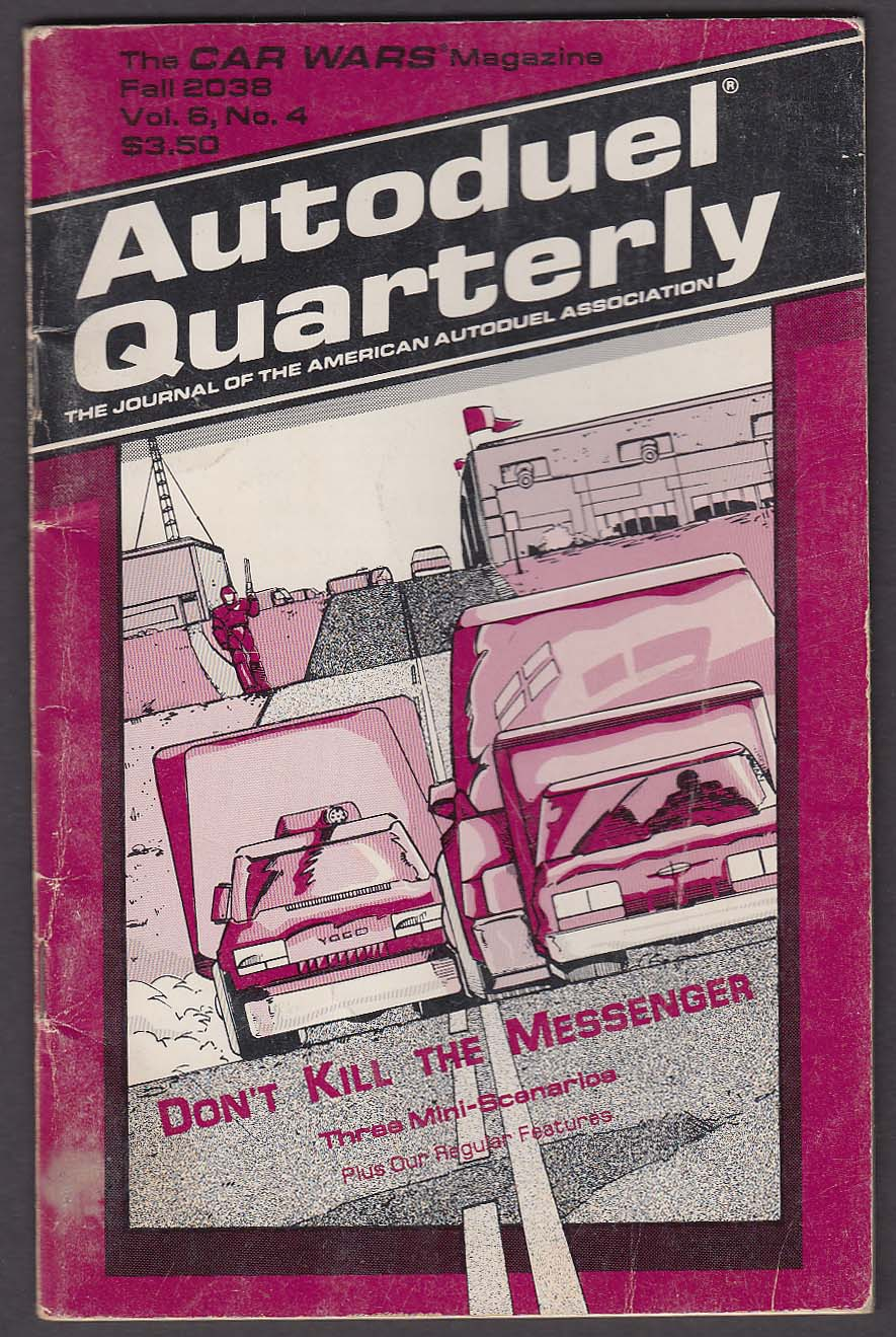 "Autoduel Quartlery ""Fall 2038"" CAR WARS Magazine 12 1988 Steve Jackson Games RPG"
