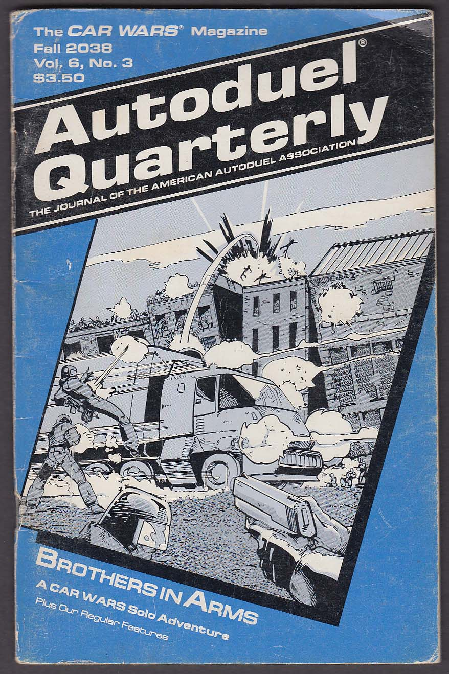 "Autoduel Quarterly ""Fall 2038"" CAR WARS Magazine 9 1988 Steve Jackson Games RPG"