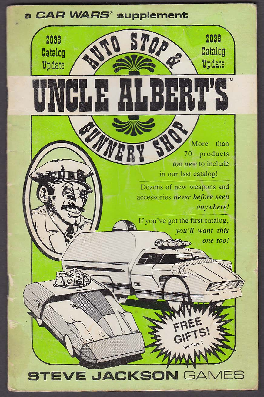 CAR WARS Supplement: Uncle Albert's 2036 Catalog Steve Jackson Games 1986 RPG