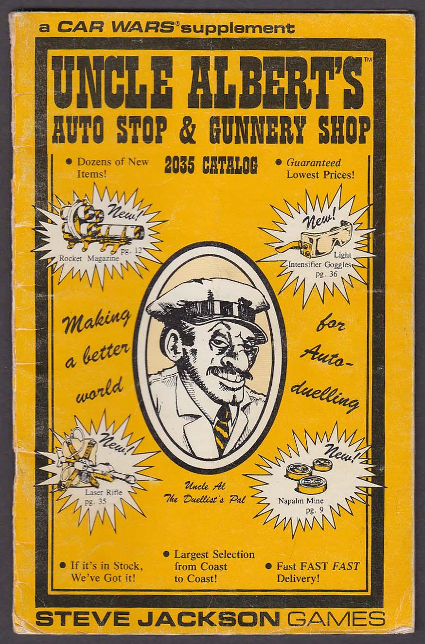 CAR WARS Supplement: Uncle Albert's 2035 Catalog Steve Jackson Games 1985 RPG