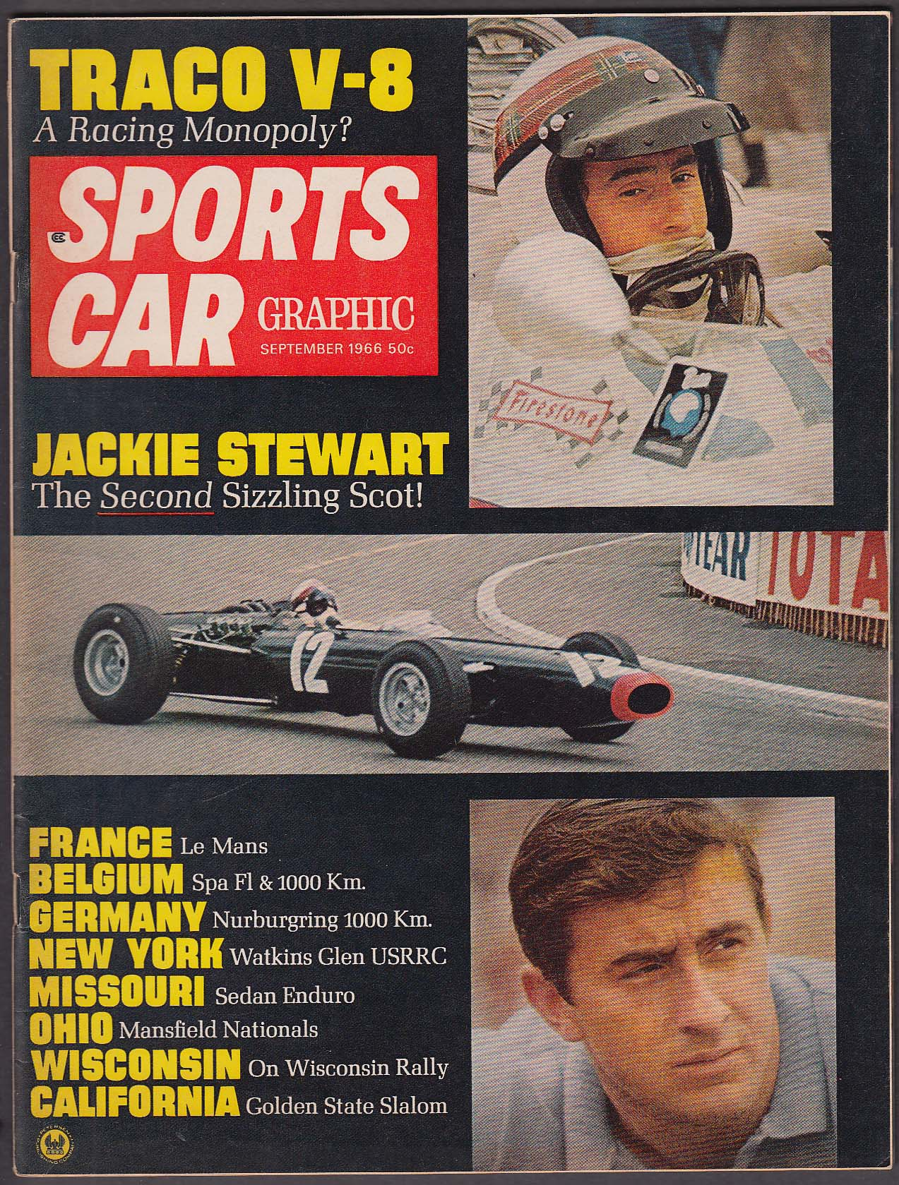 SPORTS CAR GRAPHIC Alfa Romeo 1600 Spider road test Jackie Stewart ++ 9 1966