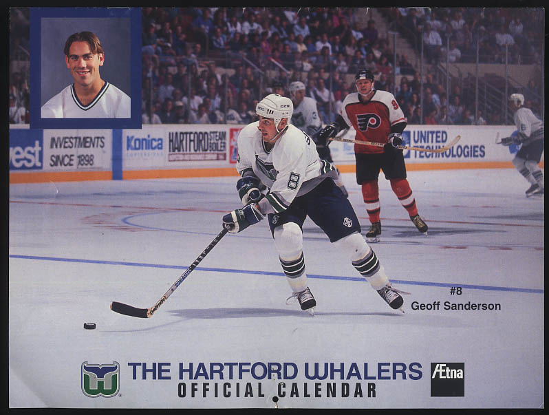 Hartford Whalers 1995 Season Calendar Aetna