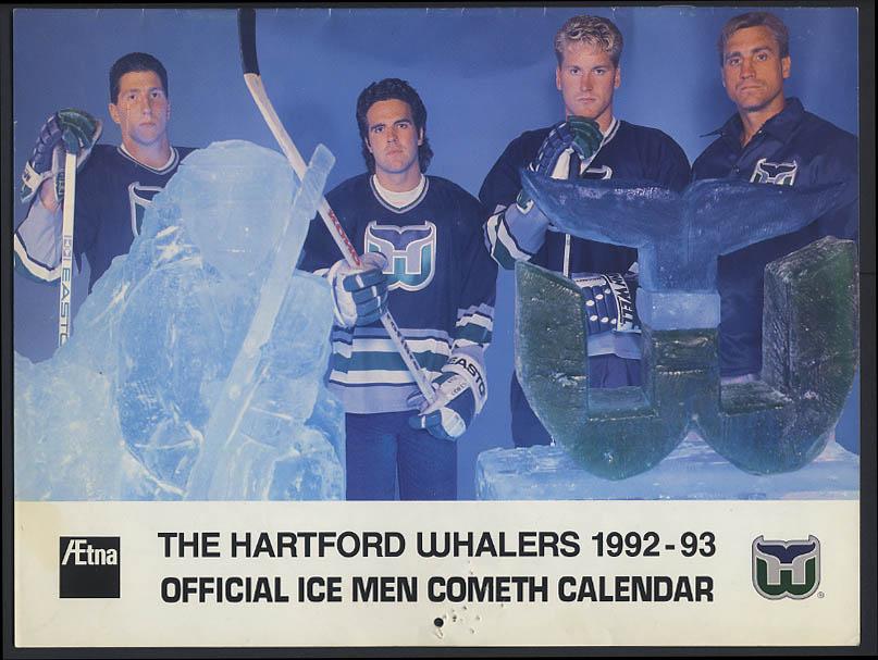 Hartford Whalers 1992-1993 Season Calendar Aetna
