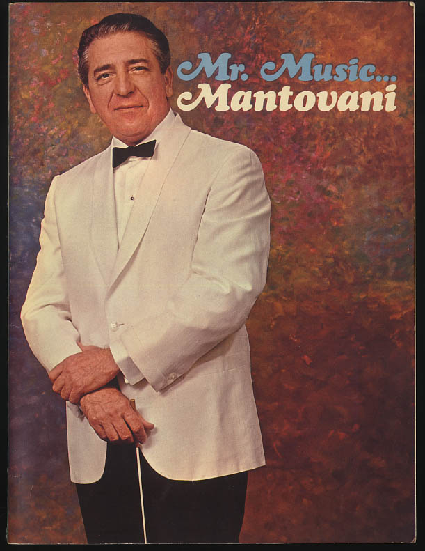 Mr Music - Montovani concert souvenir program 1966
