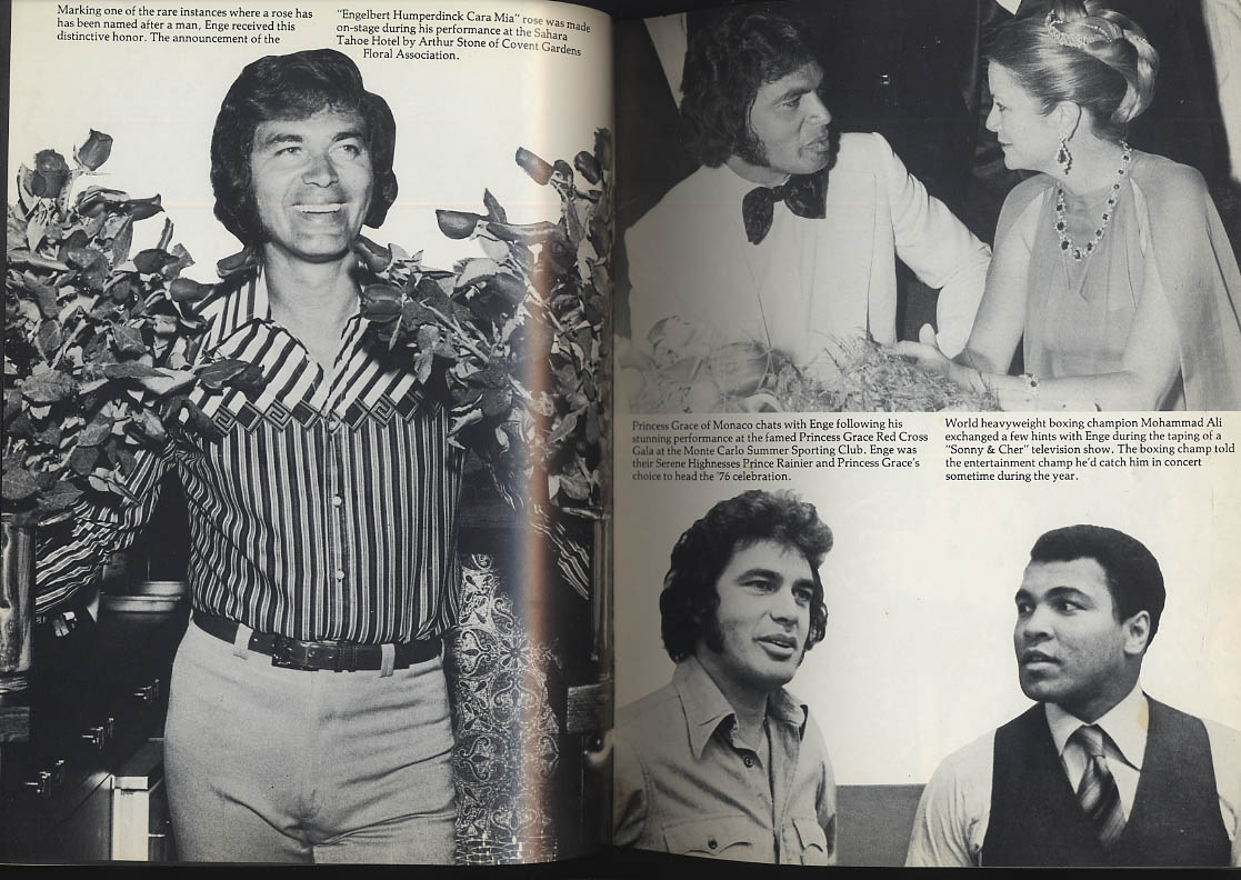 ENGE Englebert Humperdinck souvenir program 1977