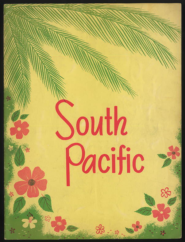Image for South Pacific musical theatre program Roger Rico Martha Wright 1950
