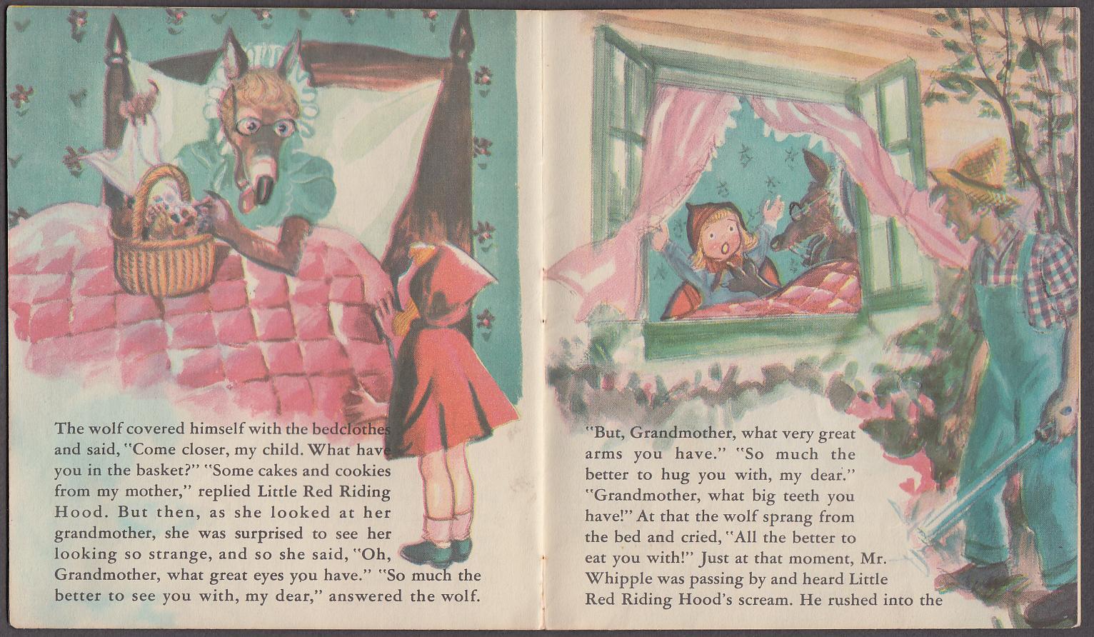 Little Red Riding Hood Wishin' Book 1950 Eoina artwork