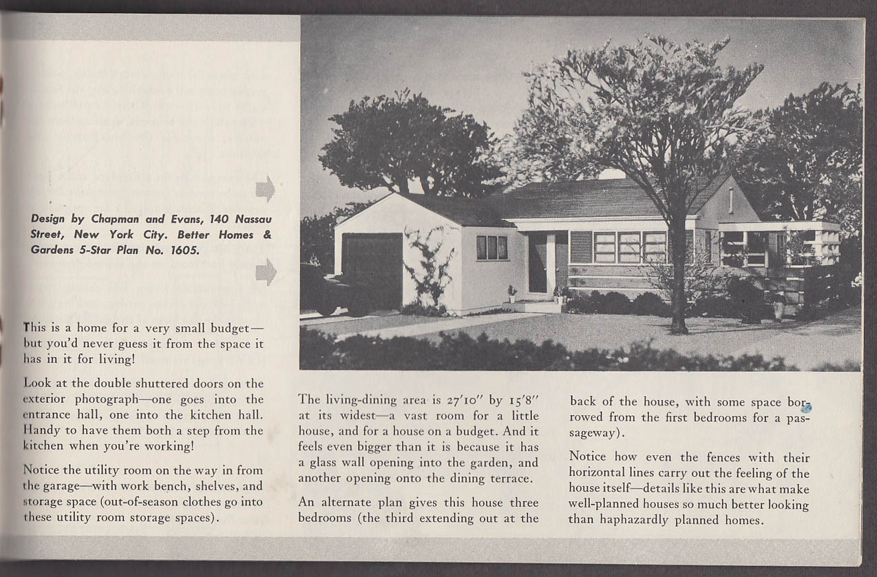 Better Homes & Gardens Homes for Today plans booklet 1946