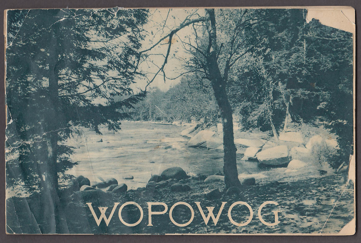 Wopowog Summer Camp for Boys & Girls E Hampton CT brochure ca 1930s