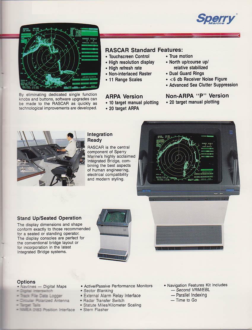sperry marine rascar collision avoidance radar sales brochure 1992 rh thejumpingfrog com sperry marine radar installation manual sperry marine visionmaster ft radar manual