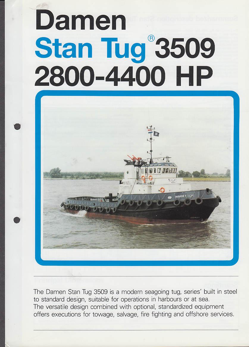 Damen Stan Tug 3509 2800-4400HP sales folder ca 1990s tugboat
